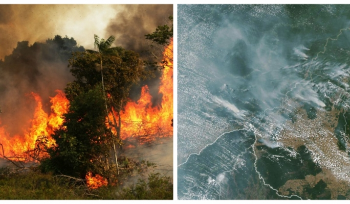 [WATCH] Disastrous Amazon rainforest fire can be seen from space