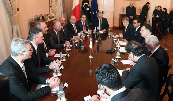 [WATCH] Libyan Prime Minister in fleeting visit to Malta