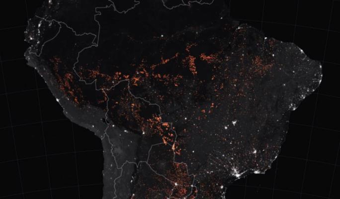 Satellite images show extent of Amazon rainforest fires