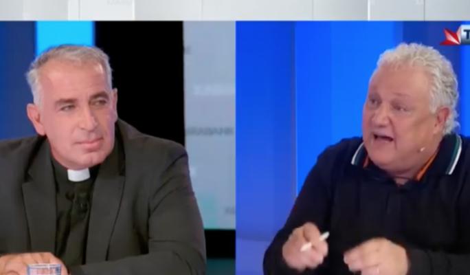 [WATCH] Xarabank presenter Peppi Azzopardi confronts Lowell's priest over far-right endorsement