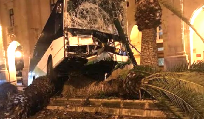 Driver suspended following Floriana bus crash