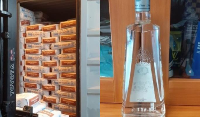 Customs seize 9,500 contraband vodka bottles at Freeport