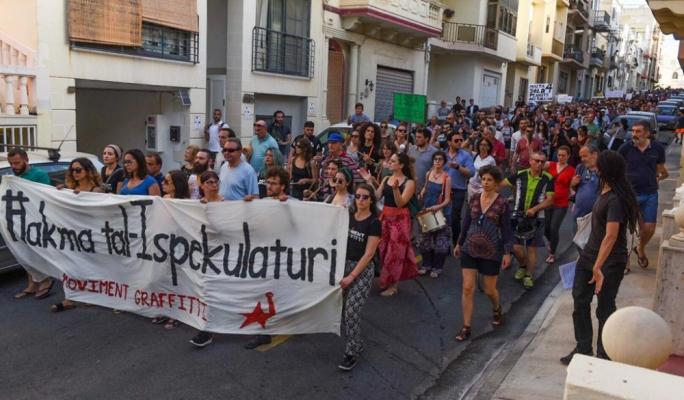 Citizens march against 'developers' dictatorship'